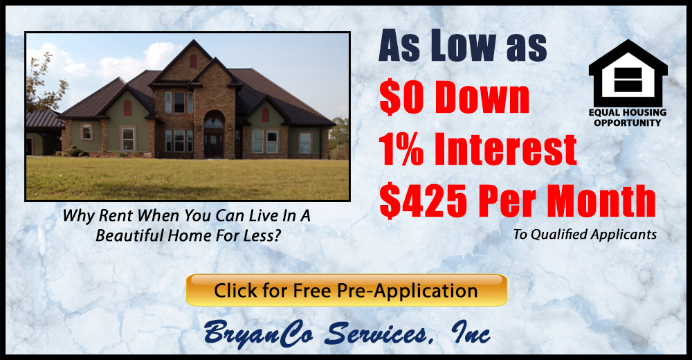 Photo - $0 down and 1% interest to qualified buyers